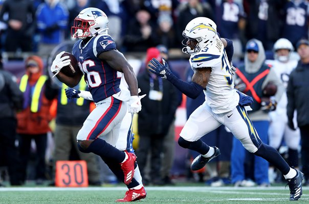 Sony Michel New England Patriots v Chargers AFC Playoffs 2019