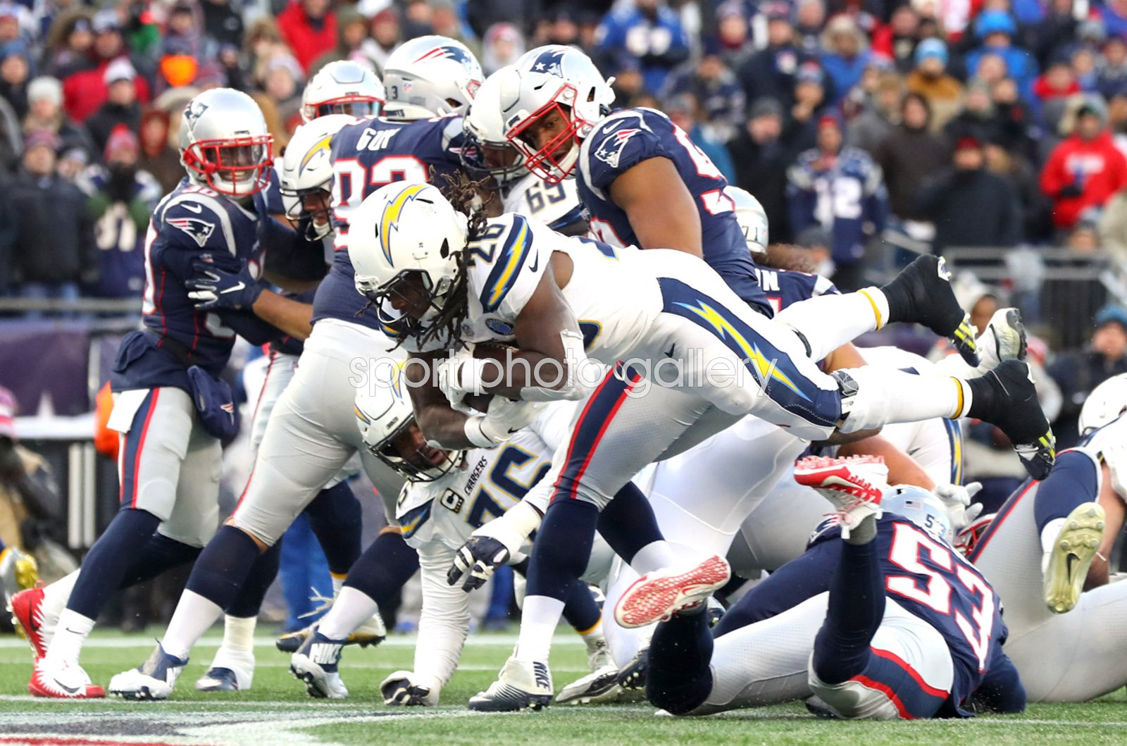 Melvin Gordon Los Angeles Chargers Touchdown v Patriots 2019