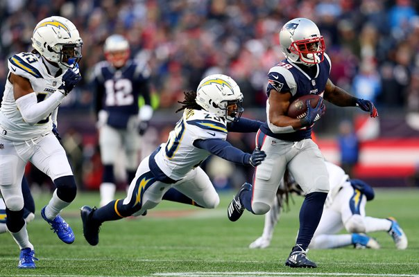 James White New England Patriots v Chargers AFC Playoffs 2019