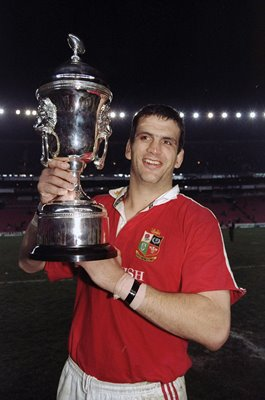 Martin Johnson British Lions Series Trophy South Africa 1997