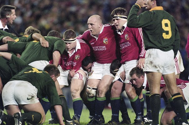 Keith Wood British Lions scrum v South Africa 1st Test 1997