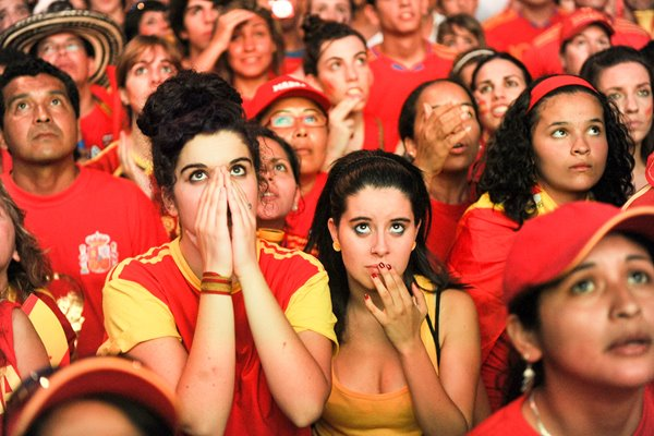Spanish Fans watch the 2010 FIFA World Cup Final