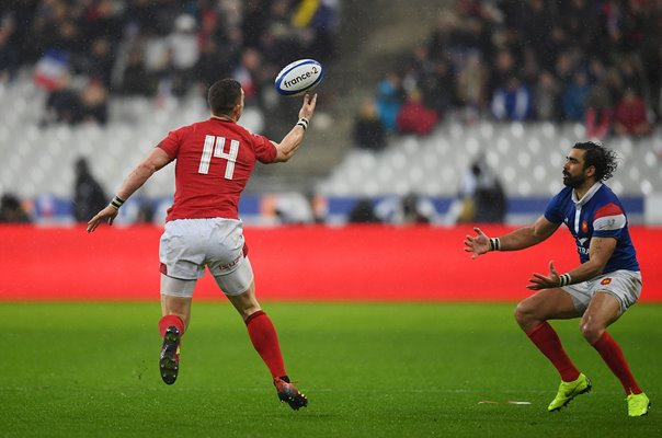 George North Wales Intercept v France Paris 6 Nations 2019
