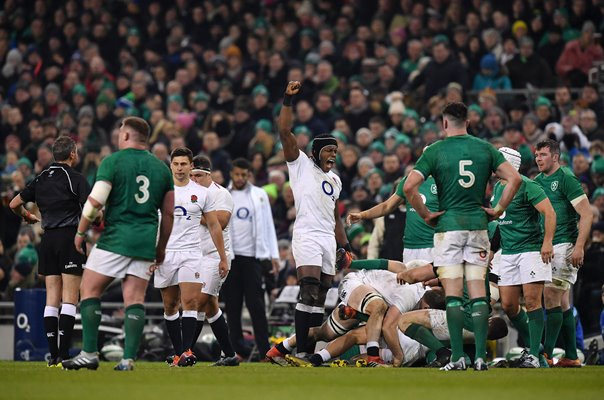 Maro Itoje England v Ireland Dublin Six Nations 2019