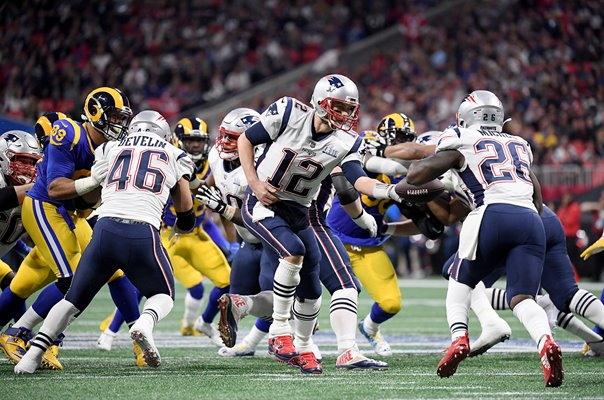 Tom Brady & Sony Michel New England Patriots Super Bowl 2019