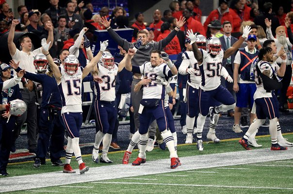 New England Patriots celebrate Super Bowl win Atlanta 2019