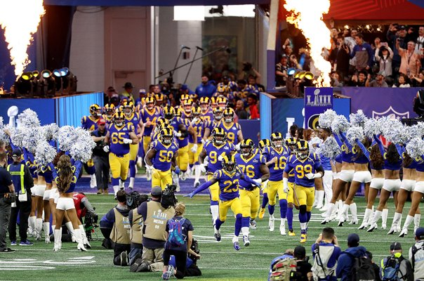 Los Angeles Rams enter Stadium Super Bowl Atlanta 2019