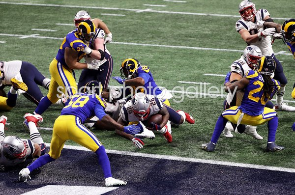 Sony Michel New England Patriots Winning Touchdown Super Bowl 2019