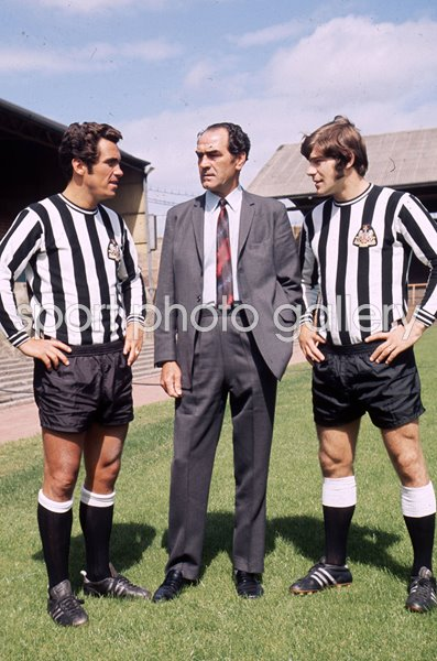 Bob Moncur, Manager Joe Harvey & Malcolm McDonald Newcastle United 1971