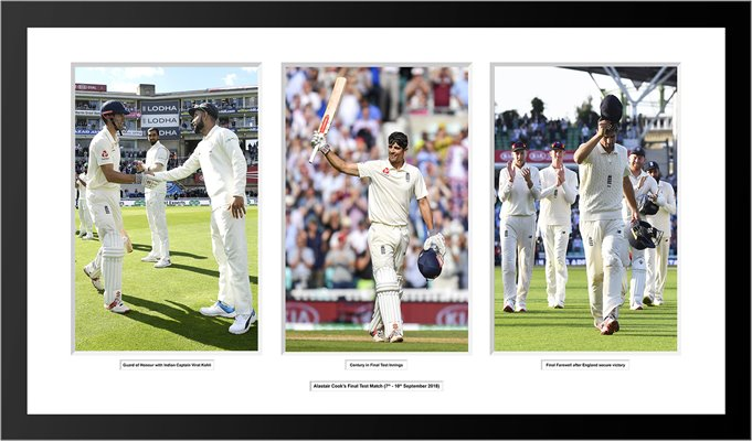 Alastair Cook Final Test Collage Presentation