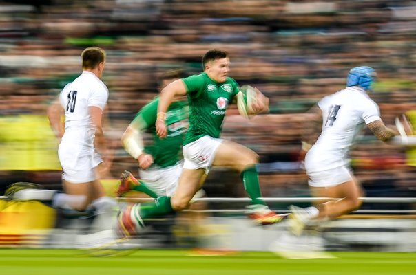 Jacob Stockdale Ireland runs v England Dublin 6 Nations 2019