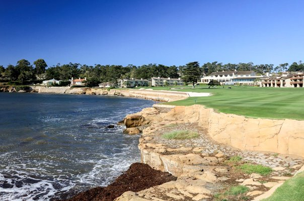 18th Hole Par 5 Pebble Beach Golf Links California USA