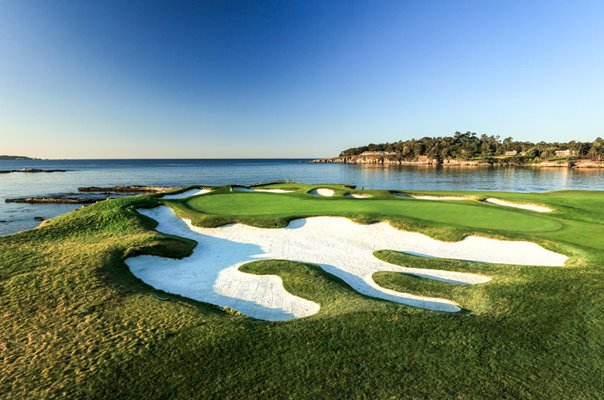 17th Green & 18th Tee Pebble Beach Golf Links California USA