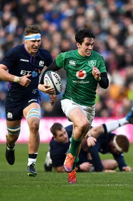 Joey Carbery Ireland break v Scotland Edinburgh 6 Nations 2019