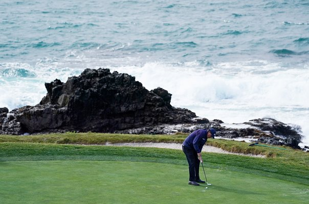 Phil Mickelson USA 7th Green Pebble Beach Pro-Am 2019