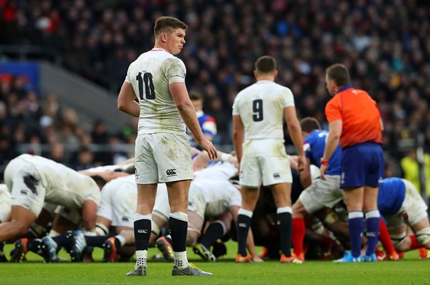 Owen Farrell England Number 10 v France Twickenham 6 Nations 2019