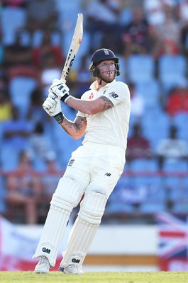 Ben Stokes England bats v West Indies 3rd Test St Lucia 2019