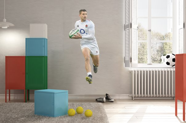 JONNY MAY ENGLAND WING V IRELAND DUBLIN SIX NATIONS 2019 WALL STICKER