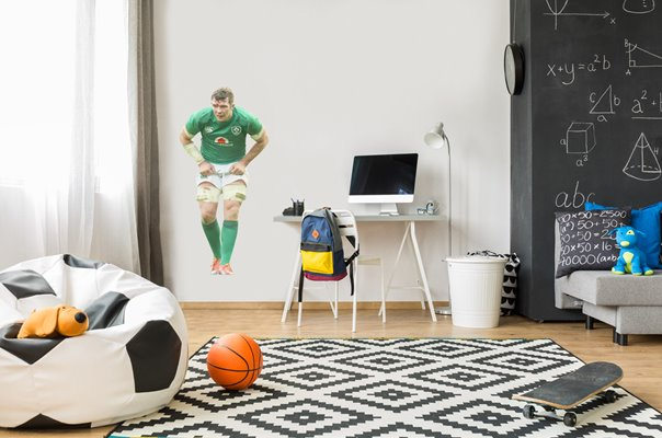 PETER O'MAHONY IRELAND LOCK V SCOTLAND MURRAYFIELD 6 NATIONS 2019 WALL STICKER