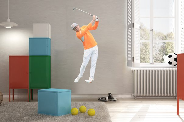 RICKIE FOWLER PHOENIX OPEN ROUND 4 ACTION SCOTTSDALE 2019 WALL STICKER