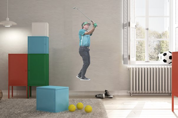 BUBBA WATSON 16TH TEE PHOENIX OPEN SCOTTSDALE 2019 WALL STICKER