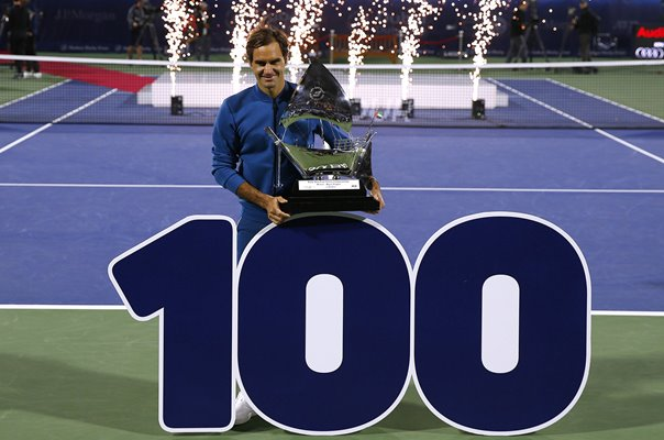 Roger Federer Switzerland 100th Career Title Dubai ATP Tour 2019