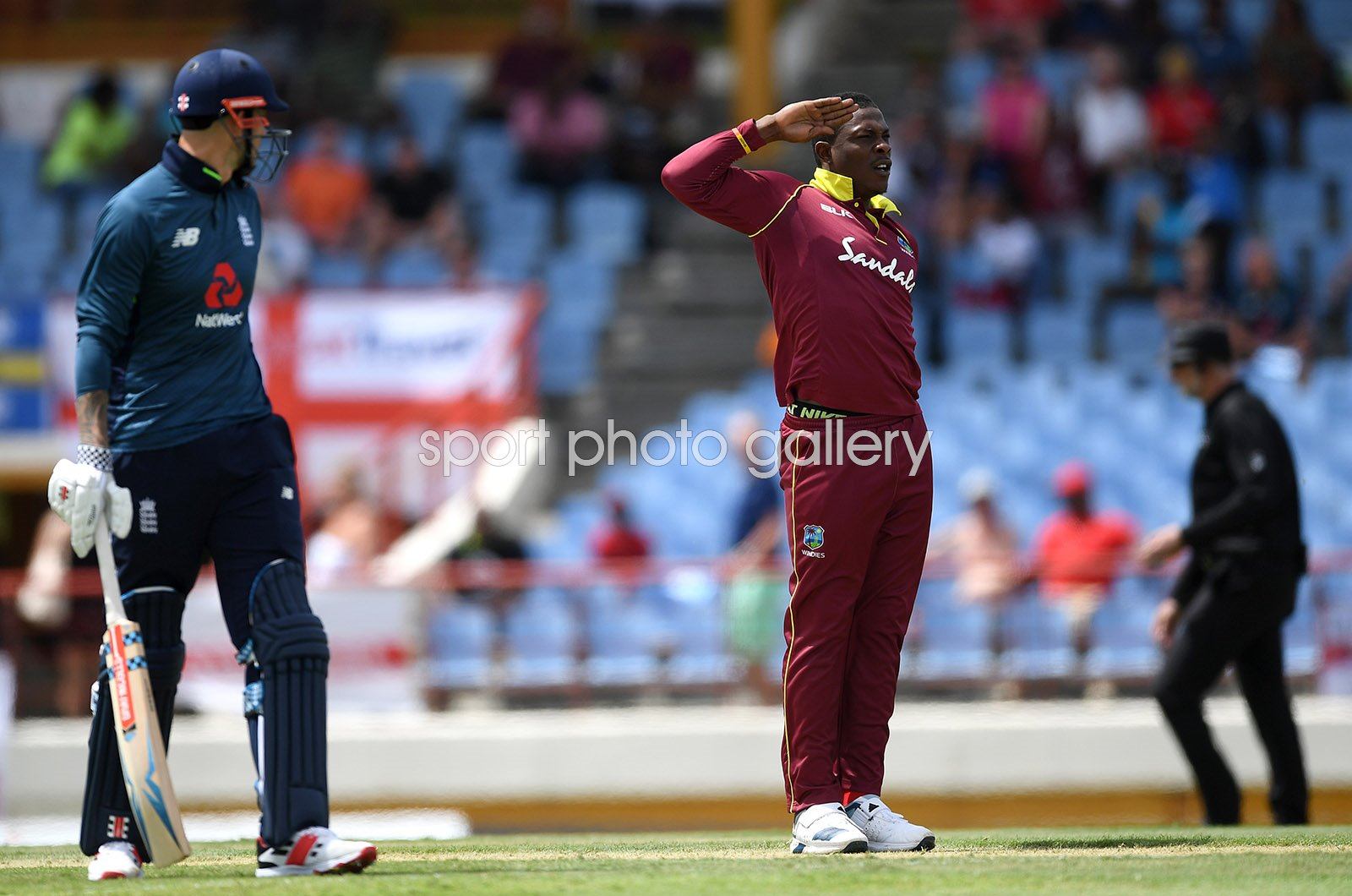 Sheldon Cottrell West Indies Trademark Wicket Celebration St Lucia 2019