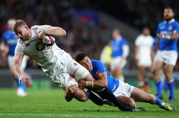 George Kruis England scores v Italy Six Nations 2019