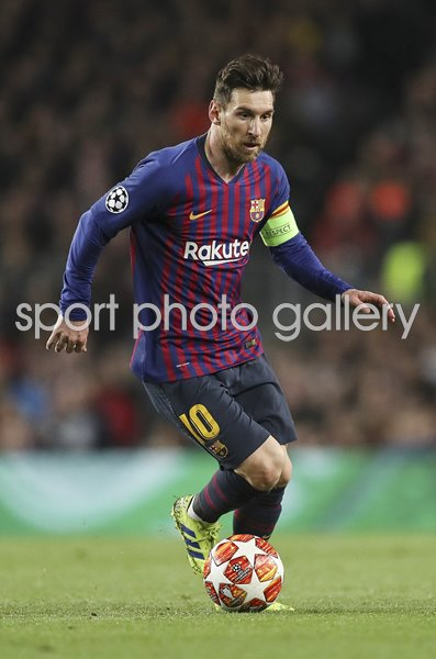 Lionel Messi Barcelona v Lyon Champions League Nou Camp 2019