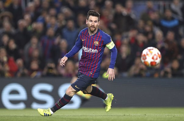 Lionel Messi Barcelona v Lyon Champions League Last 16 2019