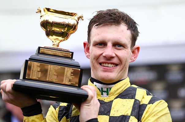 Jockey Paul Townend Gold Cup Trophy Cheltenham 2019