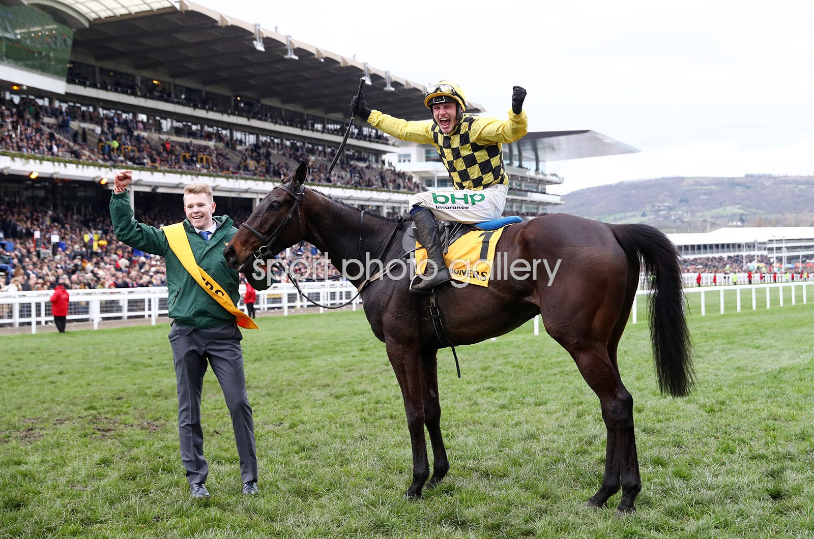 Jockey Paul Townend & Al Boum Photo win Gold Cup Cheltenham 2019