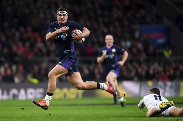Stuart McInally Scotland scores v England Twickenham 6 Nations 2019