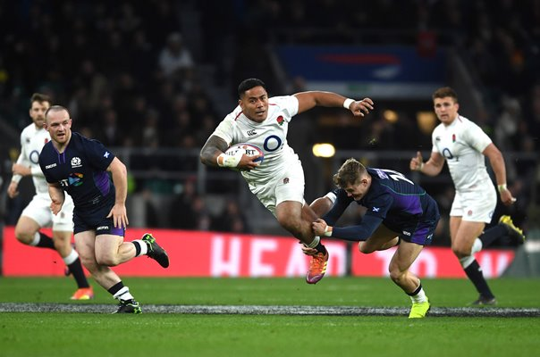 Manu Tuilagi England tackled by Darcy Graham Scotland Twickenham 2019