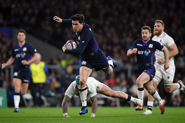Sam Johnson Scotland try v England Twickenham Six Nations 2019