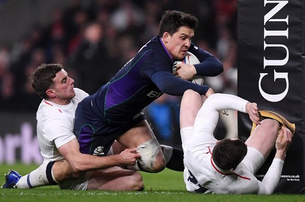 Sam Johnson Scotland try v England Twickenham 6 Nations 2019