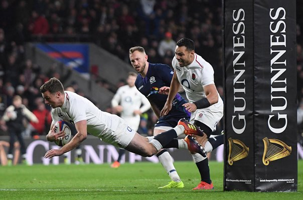 George Ford England scores v Scotland Twickenham 6 Nations 2019
