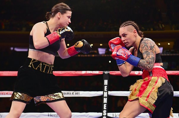 Katie Taylor Ireland v Eva Wahlstrom World Title Fight New York 2018