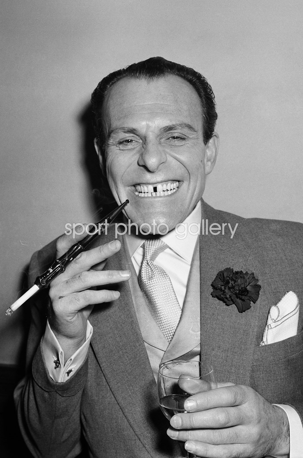 Terry Thomas English & Comedian with Cigarette Holder