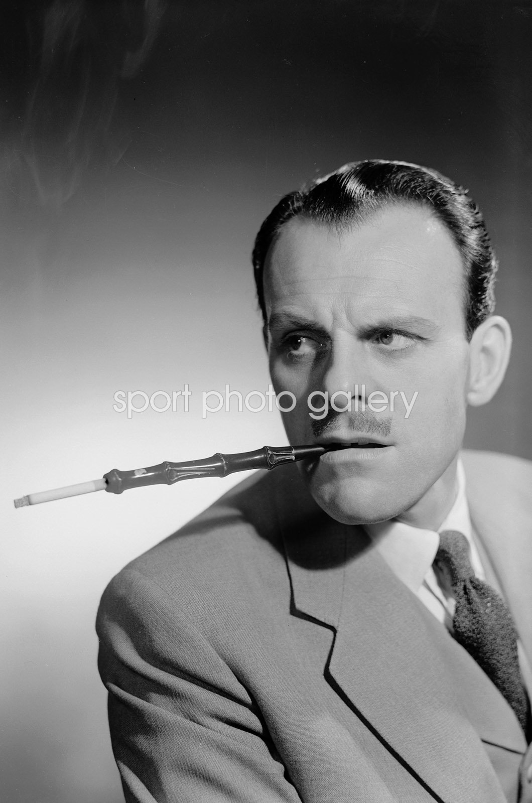 Terry Thomas English Comic Actor with Cigarette Holder