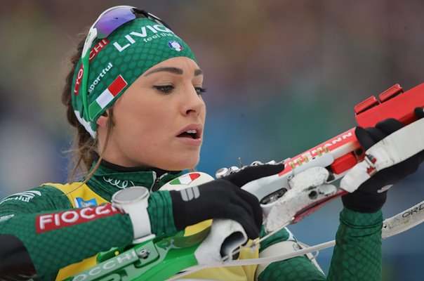Dorothea Wierer Italy action Biathlon World Cup Germany 2019