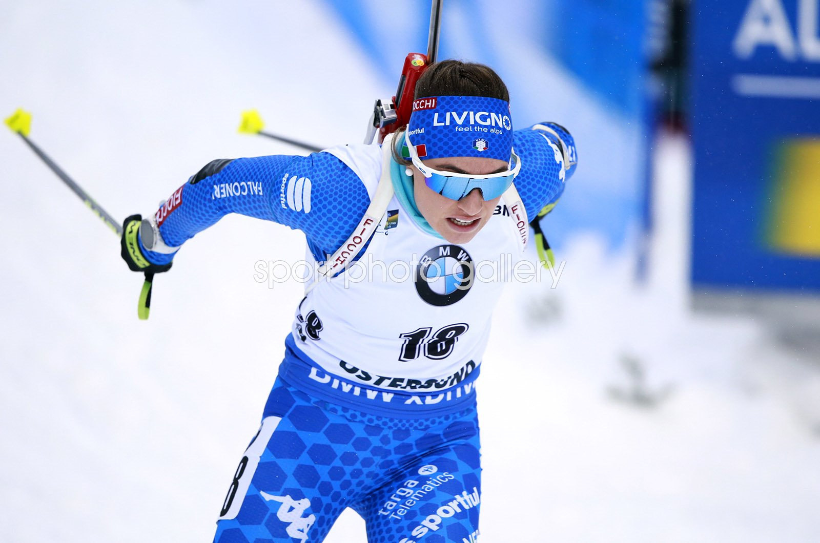 Dorothea Wierer Italy action Biathlon World Championships Sweden 2019