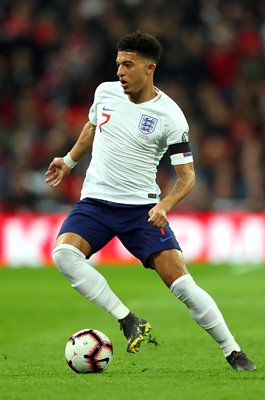 Jadon Sancho England v Czech Republic EURO 2020 Qualifier Wembley 2019