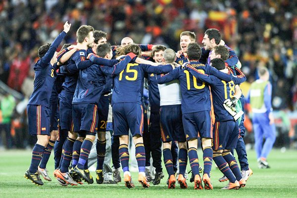 2010 World Cup Final - Spain players celebrate