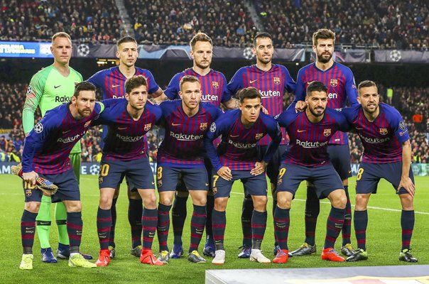 FC Barcelona team Champions League Last 16 Nou Camp 2019