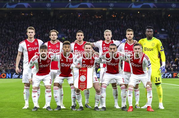 Ajax team v Juventus Champions League Quarter Final 2019