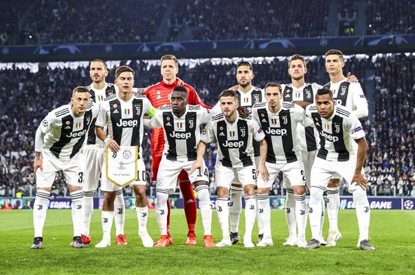 Juventus team v Ajax Champions League Quarter Final 2019