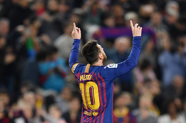 Lionel Messi Barcelona Goal Celebration v Levante La Liga 2019