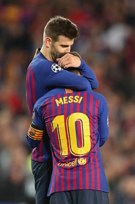 Gerard Pique & Lionel Messi Barcelona Champions League 2019