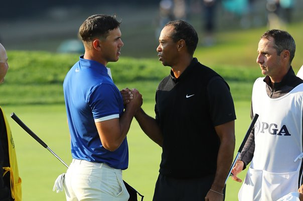 Brooks Koepka & Tiger Woods USPGA Bethpage Black New York 2019